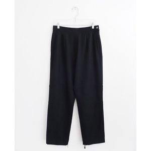 Vtg Claude Montana Black Wool Moto Pants sz 10